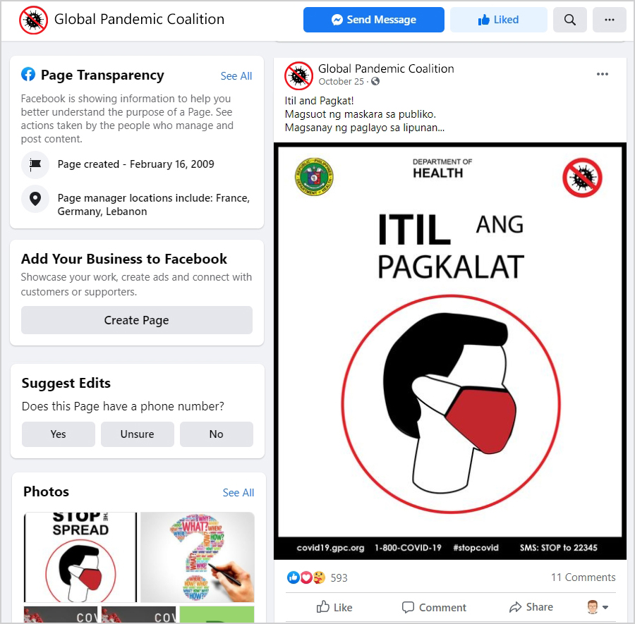 Pandemic Facebook Post Philippines